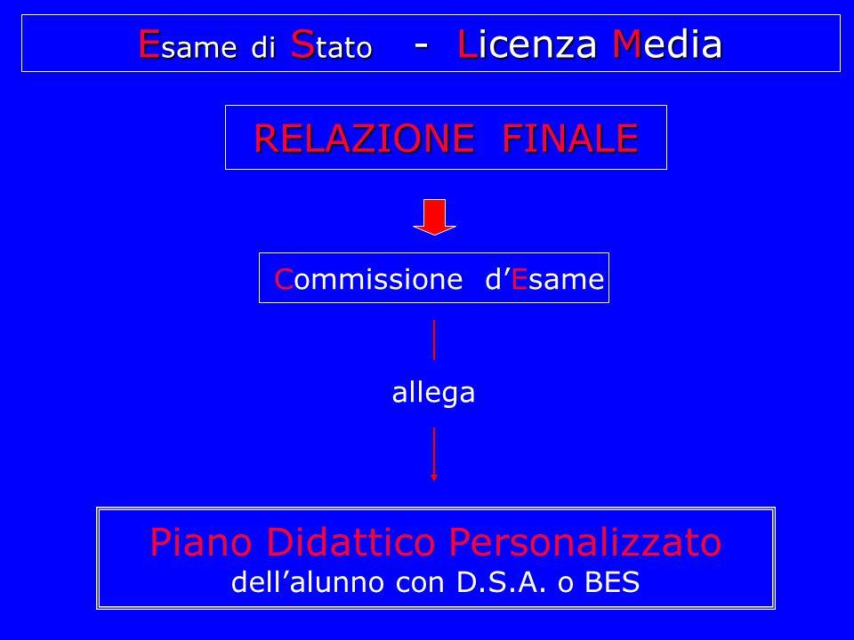 Commissione d'Esame Piano Didattico Personalizzato dell'alunno con D.S.A.