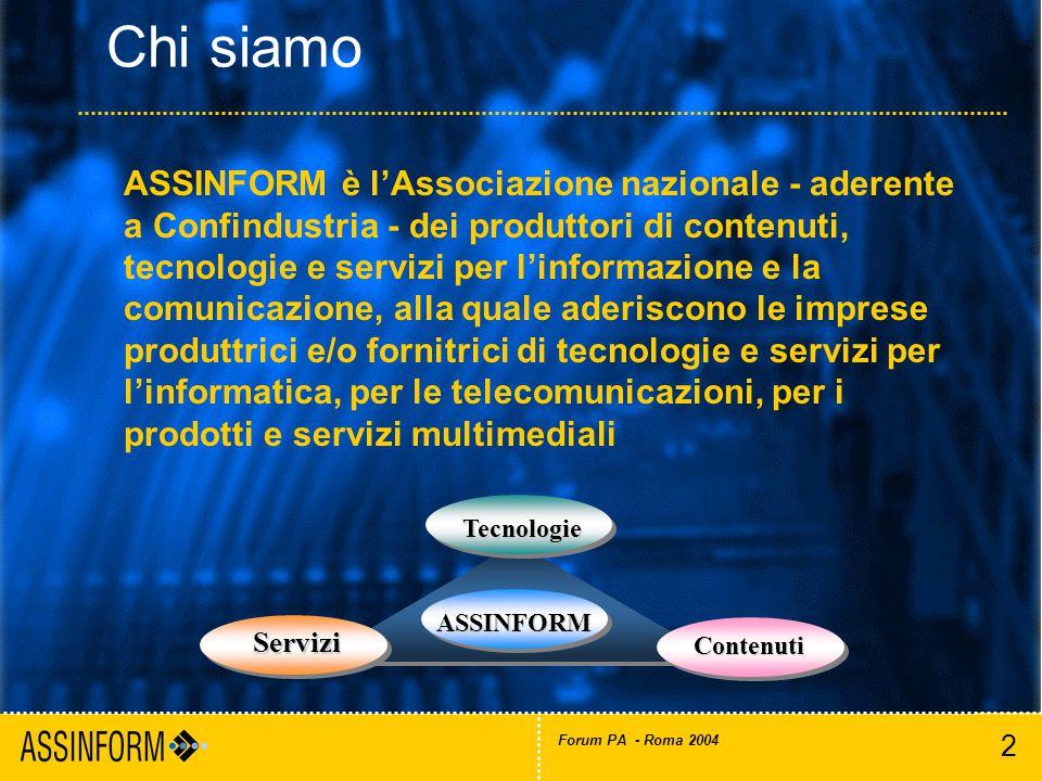 3 Forum PA - Roma 2004 3COM ITALIA ACER ITALY ADFOR ADS AUTOMATED DATA SYSTEMS AGENFOR LOMBARDIA AGENZIA ANSA AKROS INFORMATICA ALBACOM ALCATEL ITALIA AMD ANDROMEDA INFORMATICA A.P.