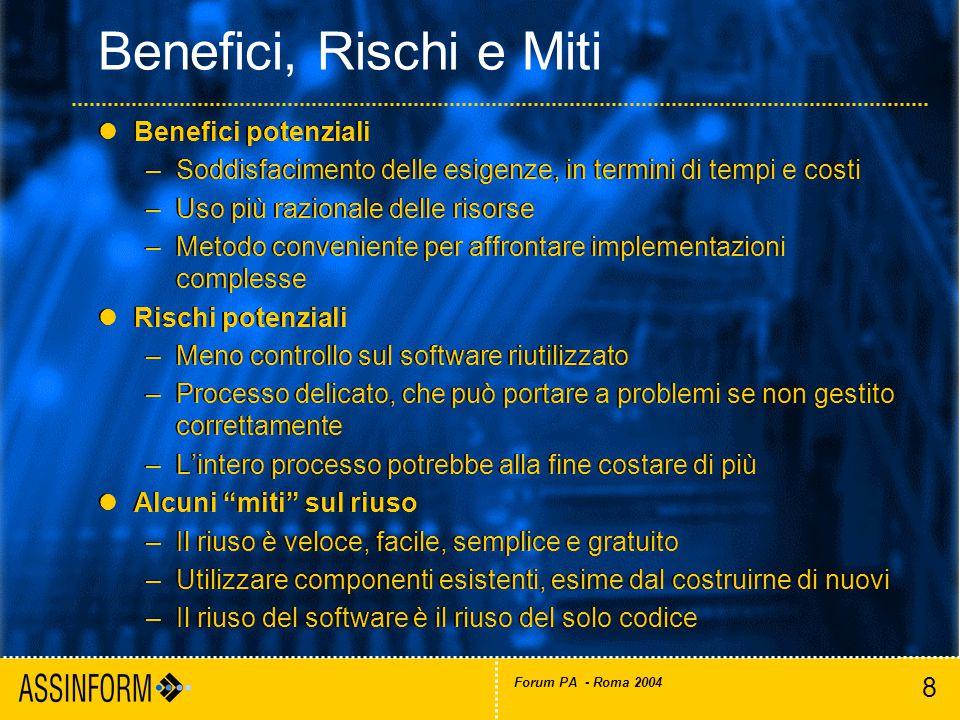 29 Forum PA - Roma 2004 I nostri riferimenti: http://www.assinform.it assinform@assinform.it http://www.assinform.it assinform@assinform.it