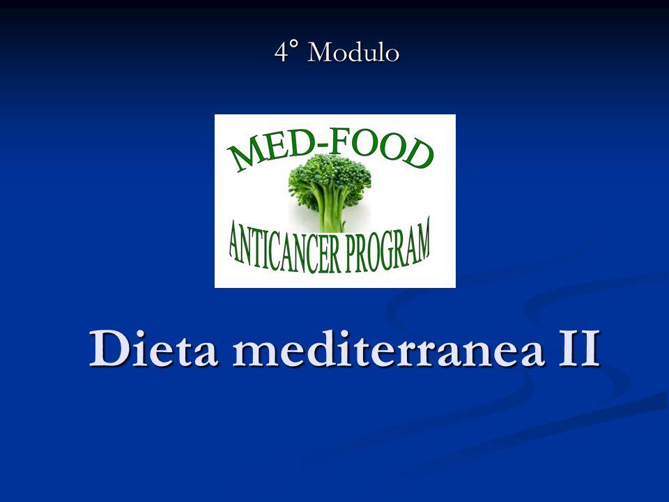 Dieta mediterranea II 4° Modulo