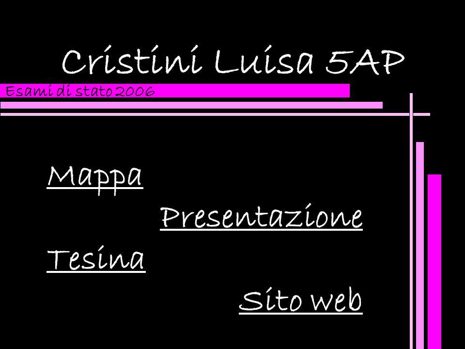 Cristini Luisa 5AP Mappa Presentazione Tesina Sito web Esami di stato 2006