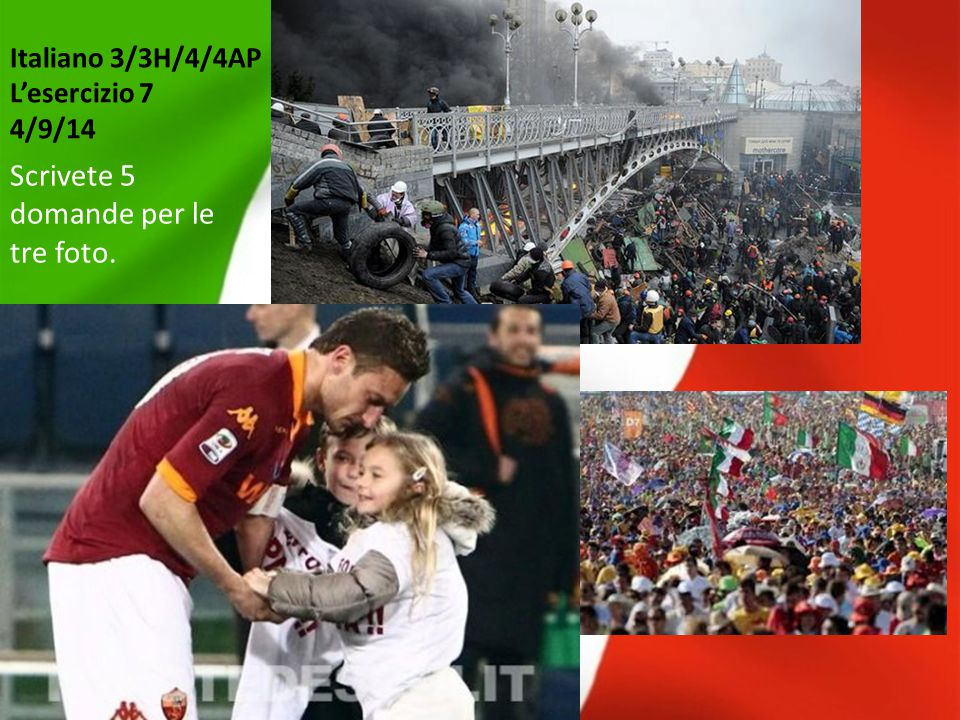 Italiano 3/3H/4/4AP L'esercizio 28 24/10/14 1.2. 3.