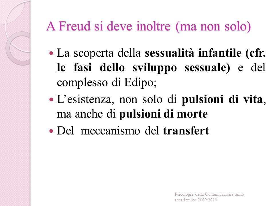 A Freud si deve inoltre (ma non solo) La scoperta della sessualità infantile (cfr.