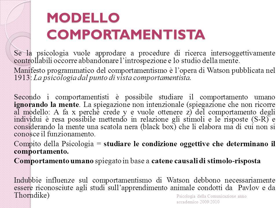 Pavlov e il condizionamento classico (1903) (risposta involontaria, riflesso condizionato provocato artificialmente).