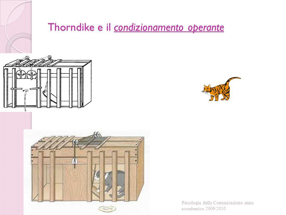 Thorndike e il condizionamento operante Psicologia della Comunicazione anno accademico 2009/2010