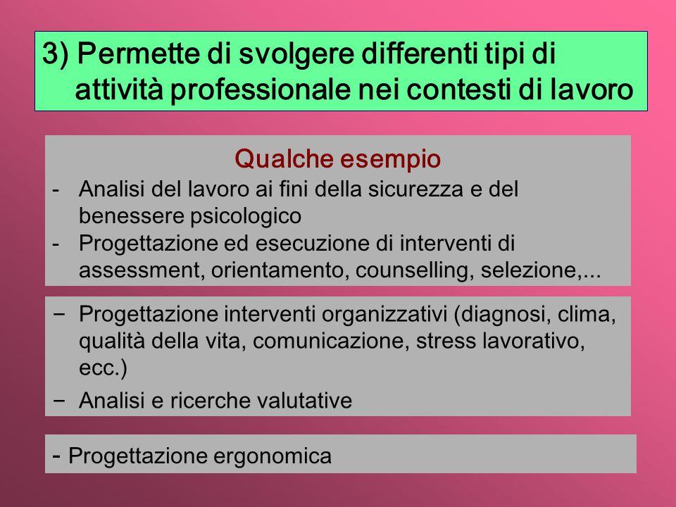 – Progettazione e attuazione interventi formativi, valutazione, qualità dell'insegnamento, ecc.