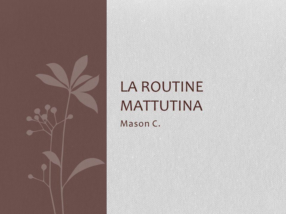 Mason C. LA ROUTINE MATTUTINA