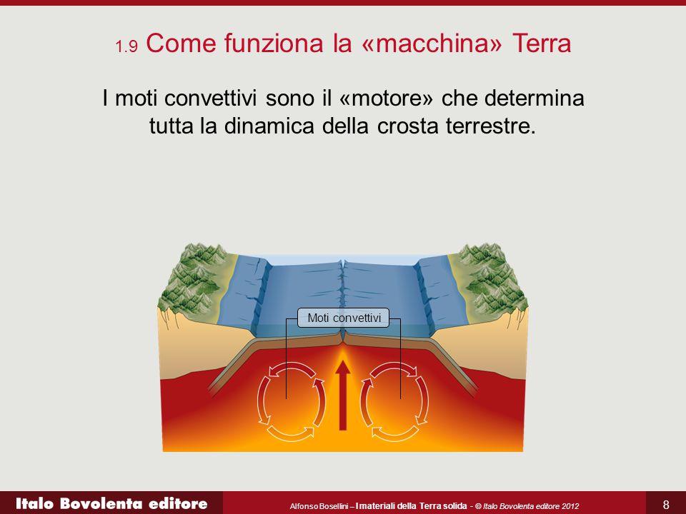Alfonso Bosellini – I materiali della Terra solida - © Italo Bovolenta editore 2012 8 I moti convettivi sono il «motore» che determina tutta la dinamica della crosta terrestre.