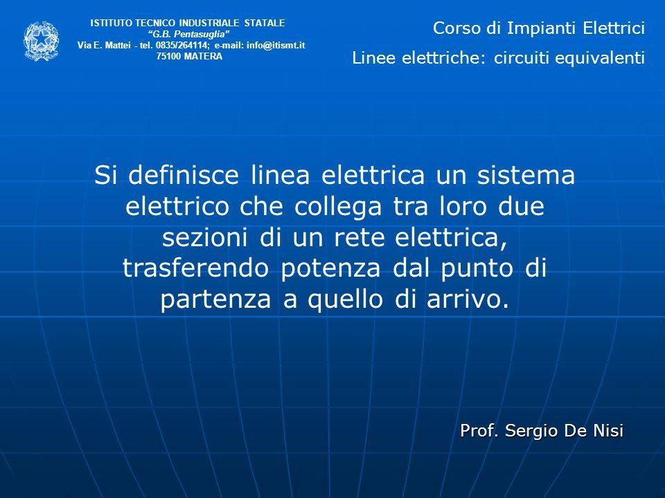 """Prof. Sergio De Nisi ISTITUTO TECNICO INDUSTRIALE STATALE """"G.B. Pentasuglia"""" Via E. Mattei - tel. 0835/264114; e-mail: info@itismt.it 75100 MATERA Cor"""