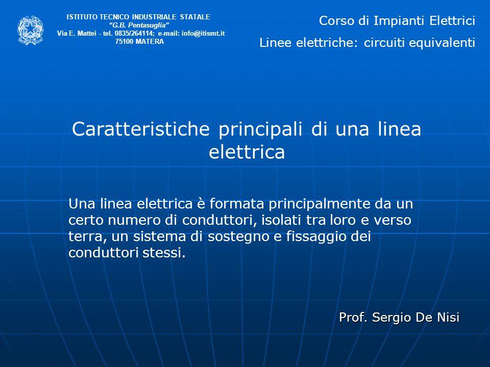 """Prof. Sergio De Nisi ISTITUTO TECNICO INDUSTRIALE STATALE """"G.B. Pentasuglia"""" Via E. Mattei - tel. 0835/264114; e-mail: info@itismt.it 75100 MATERA Car"""