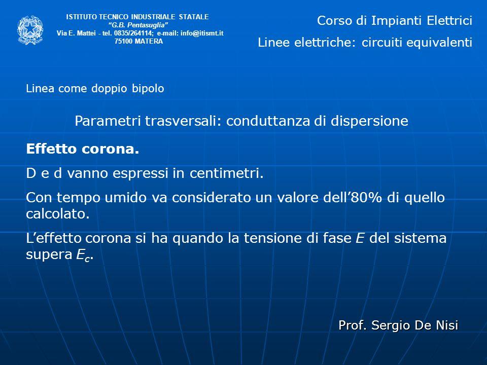 """Prof. Sergio De Nisi ISTITUTO TECNICO INDUSTRIALE STATALE """"G.B. Pentasuglia"""" Via E. Mattei - tel. 0835/264114; e-mail: info@itismt.it 75100 MATERA Lin"""