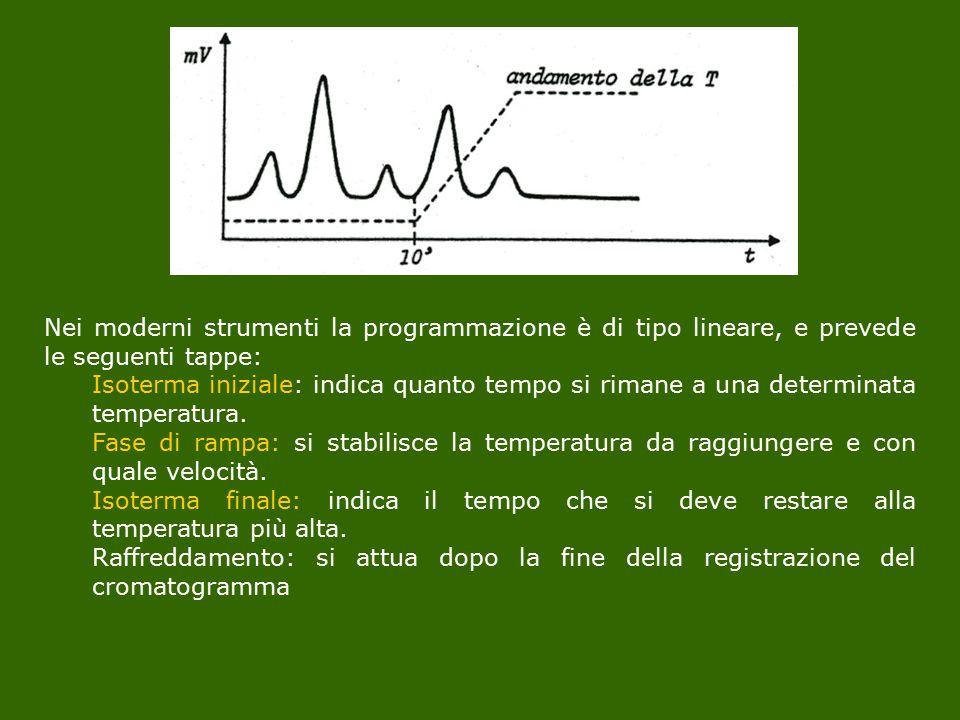 Nei moderni strumenti la programmazione è di tipo lineare, e prevede le seguenti tappe: Isoterma iniziale: indica quanto tempo si rimane a una determi