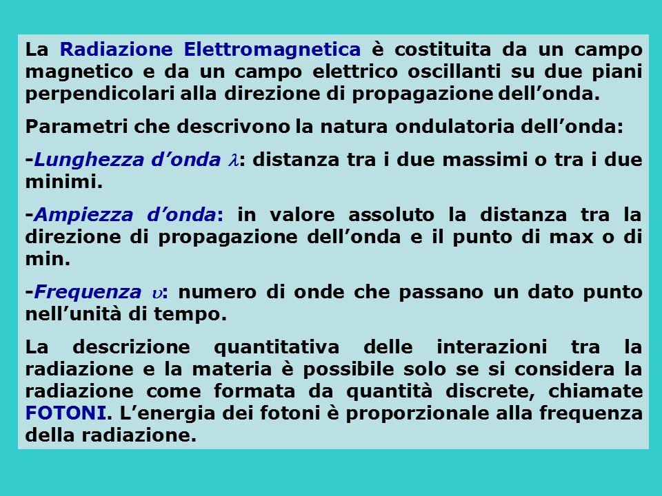 La Radiazione Elettromagnetica è costituita da un campo magnetico e da un campo elettrico oscillanti su due piani perpendicolari alla direzione di pro