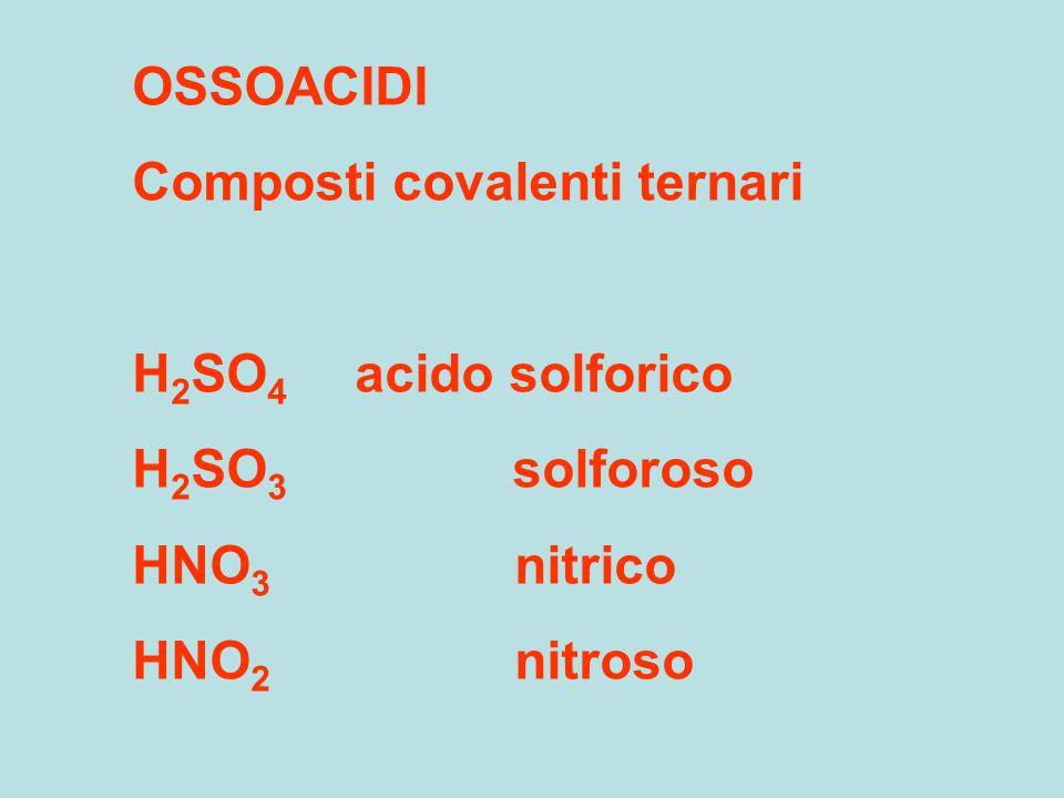 ACIDI OSSIGENATI DEGLI ALOGENI HClO acido ipocloroso HBrO HClO 2 cloroso HIO HClO 3 clorico HClO 4 perclorico