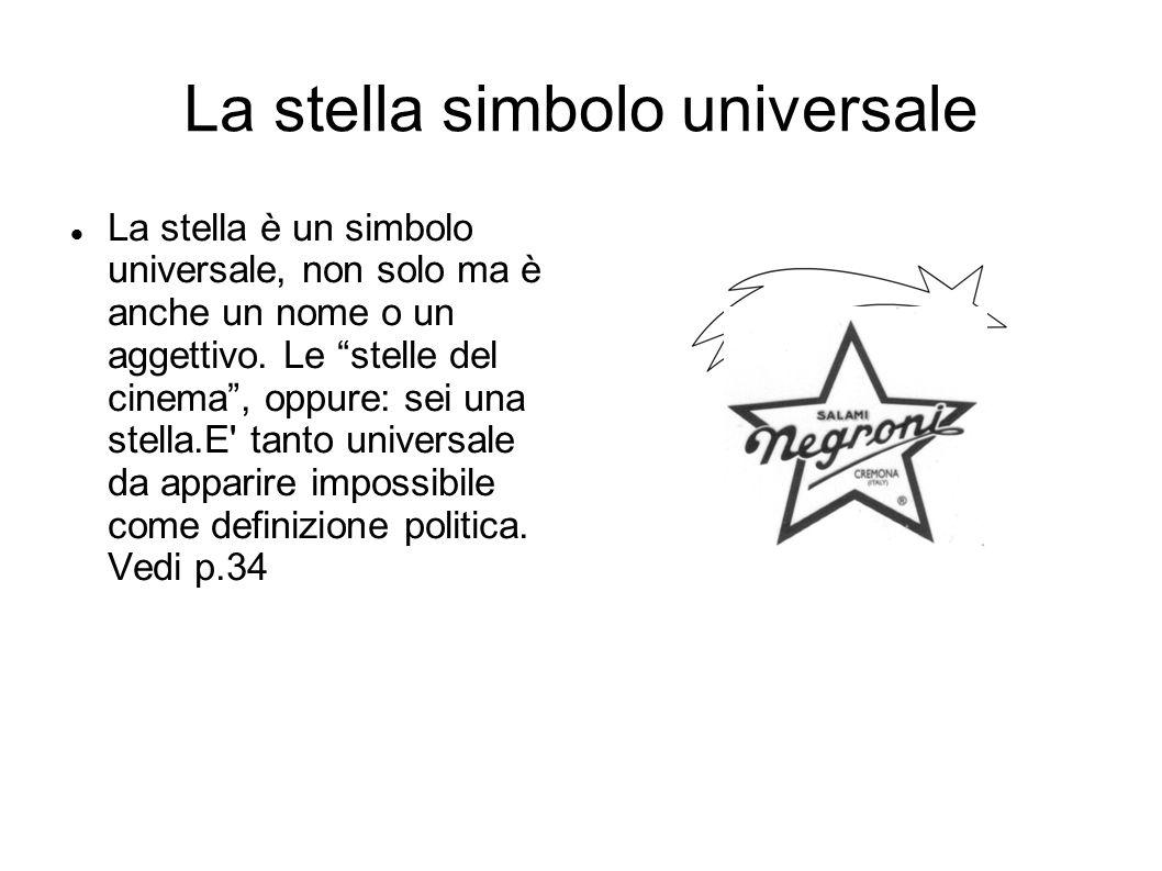 La stella simbolo universale La stella è un simbolo universale, non solo ma è anche un nome o un aggettivo.