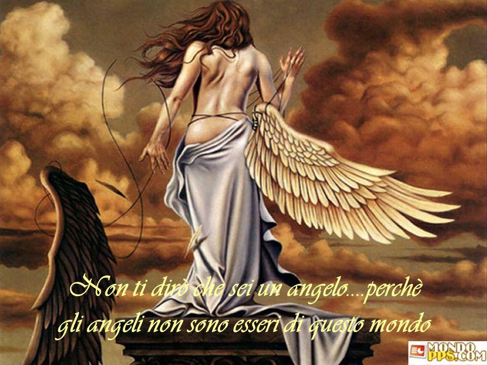 Non ti dirò che sei un angelo….perchè gli angeli non sono esseri di questo mondo