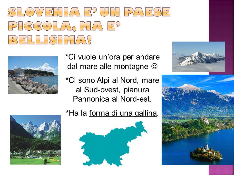 *Ci vuole un'ora per andare dal mare alle montagne *Ci sono Alpi al Nord, mare al Sud-ovest, pianura Pannonica al Nord-est.