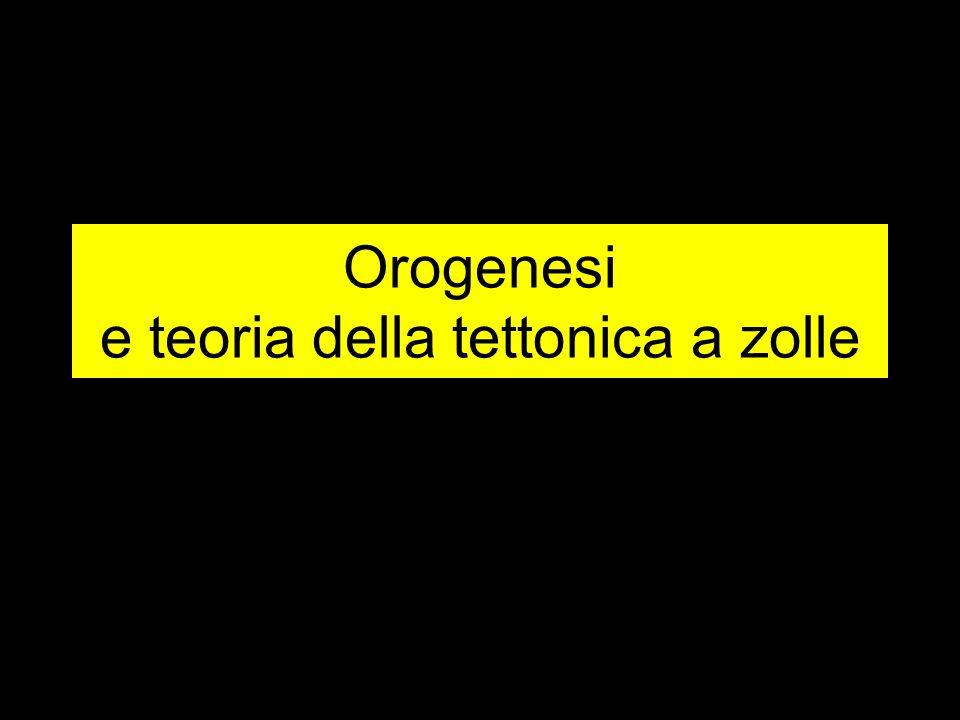 Orogenesi e teoria della tettonica a zolle