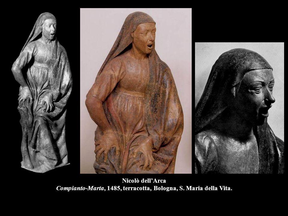 Nicolò dell'Arca Compianto-Marta, 1485, terracotta, Bologna, S. Maria della Vita.