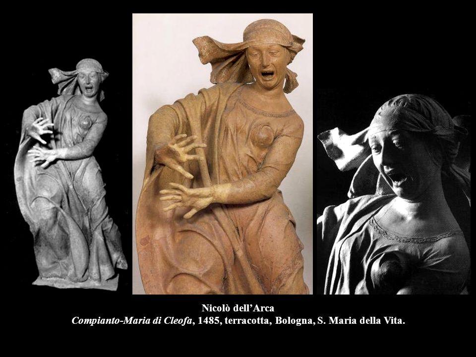 Nicolò dell'Arca Compianto-Maria di Cleofa, 1485, terracotta, Bologna, S. Maria della Vita.