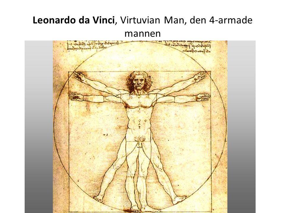 Leonardo da Vinci, Virtuvian Man, den 4-armade mannen