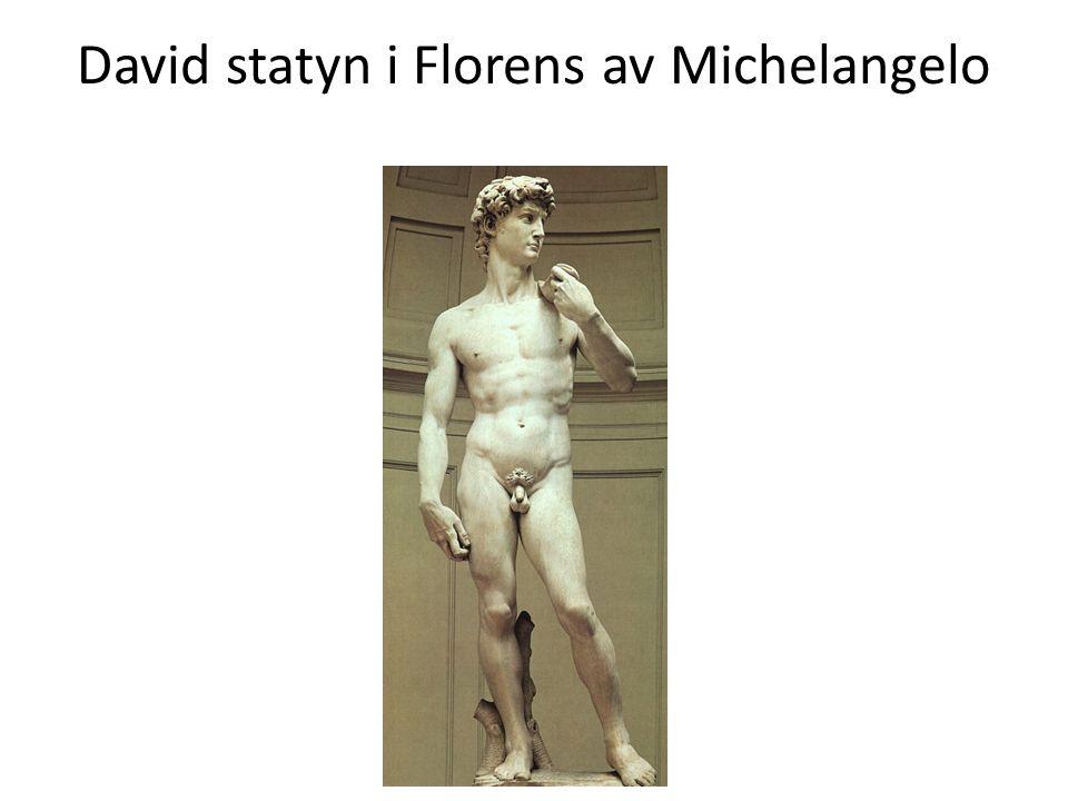 David statyn i Florens av Michelangelo