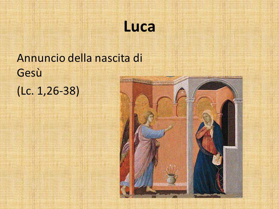 Luca Annuncio della nascita di Gesù (Lc. 1,26-38)