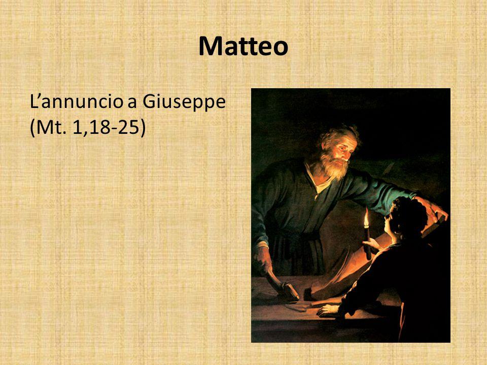 Matteo La visita dei Magi (Mt. 2,1-12)