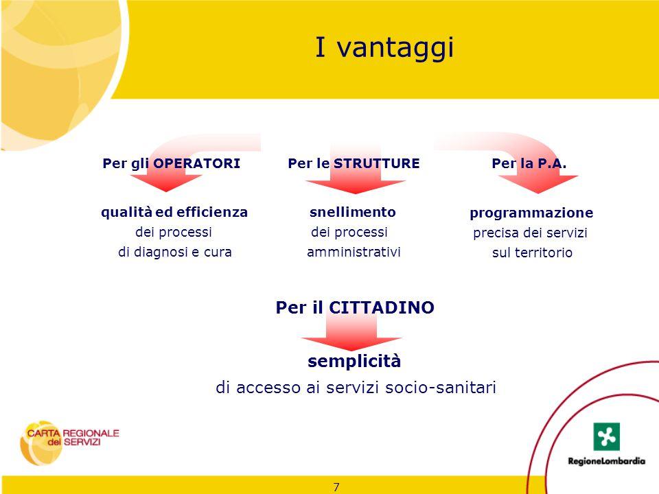7 qualità ed efficienza dei processi di diagnosi e cura semplicità di accesso ai servizi socio-sanitari programmazione precisa dei servizi sul territo