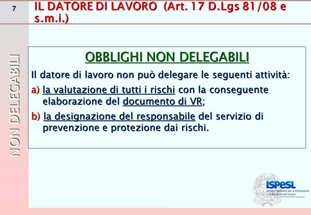 18 DELEGA DI FUNZIONI (Art.