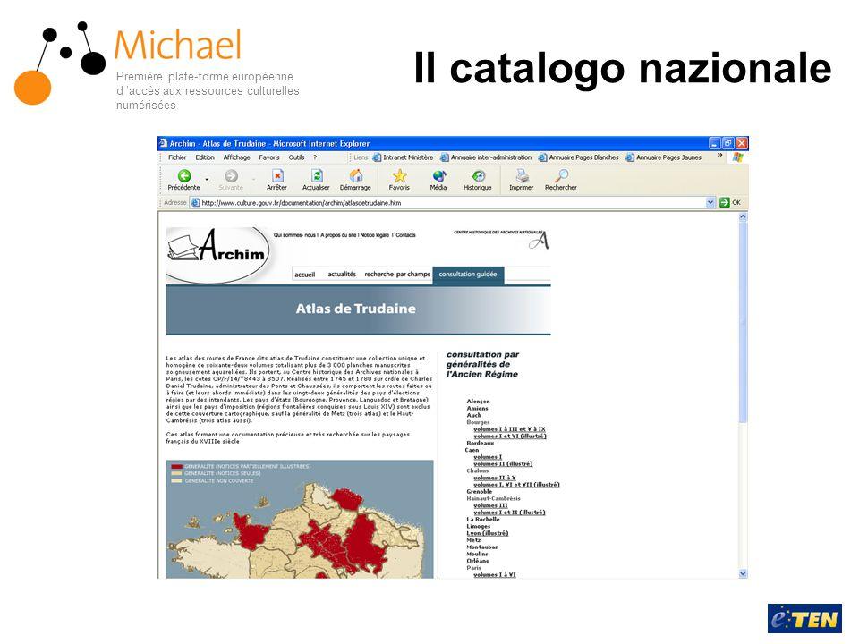 Il catalogo nazionale Première plate-forme européenne d 'accès aux ressources culturelles numérisées