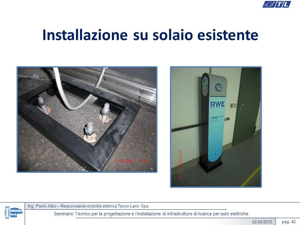 22/05/2014 Ing. Paolo Albo – Responsabile mobilità elettrica Tecno-Lario Spa pag. 42 Seminario Tecnico per la progettazione e l'installazione di infra