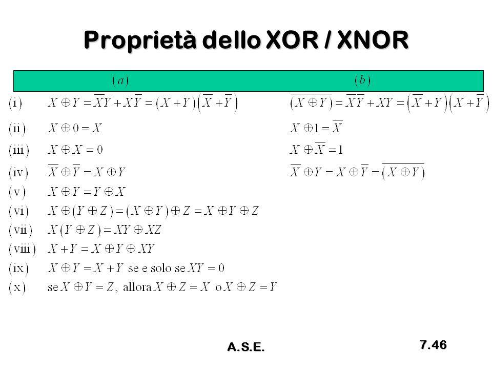 Proprietà dello XOR / XNOR A.S.E. 7.46