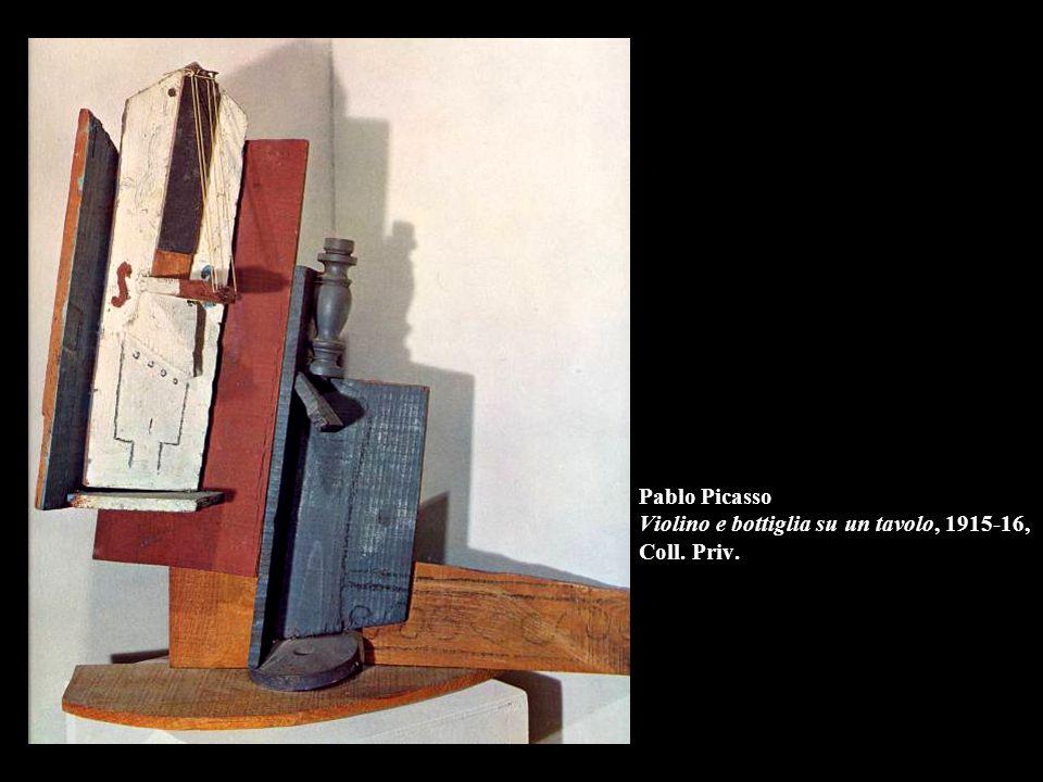 Pablo Picasso Violino e bottiglia su un tavolo, 1915-16, Coll. Priv.