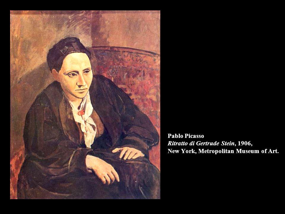 Pablo Picasso Ritratto di Gertrude Stein, 1906, New York, Metropolitan Museum of Art.