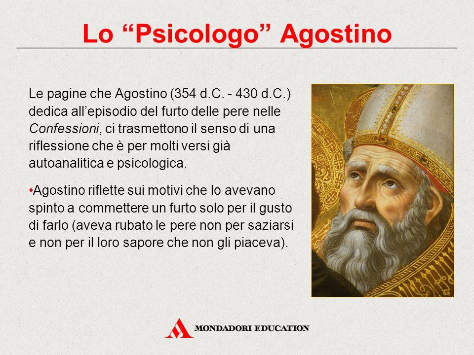 Le pagine che Agostino (354 d.C. - 430 d.C.) dedica all'episodio del furto delle pere nelle Confessioni, ci trasmettono il senso di una riflessione ch