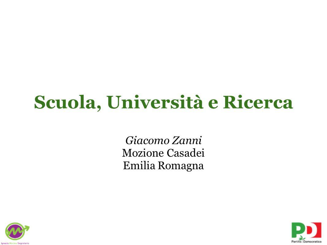 Scuola, Università e Ricerca Giacomo Zanni Mozione Casadei Emilia Romagna