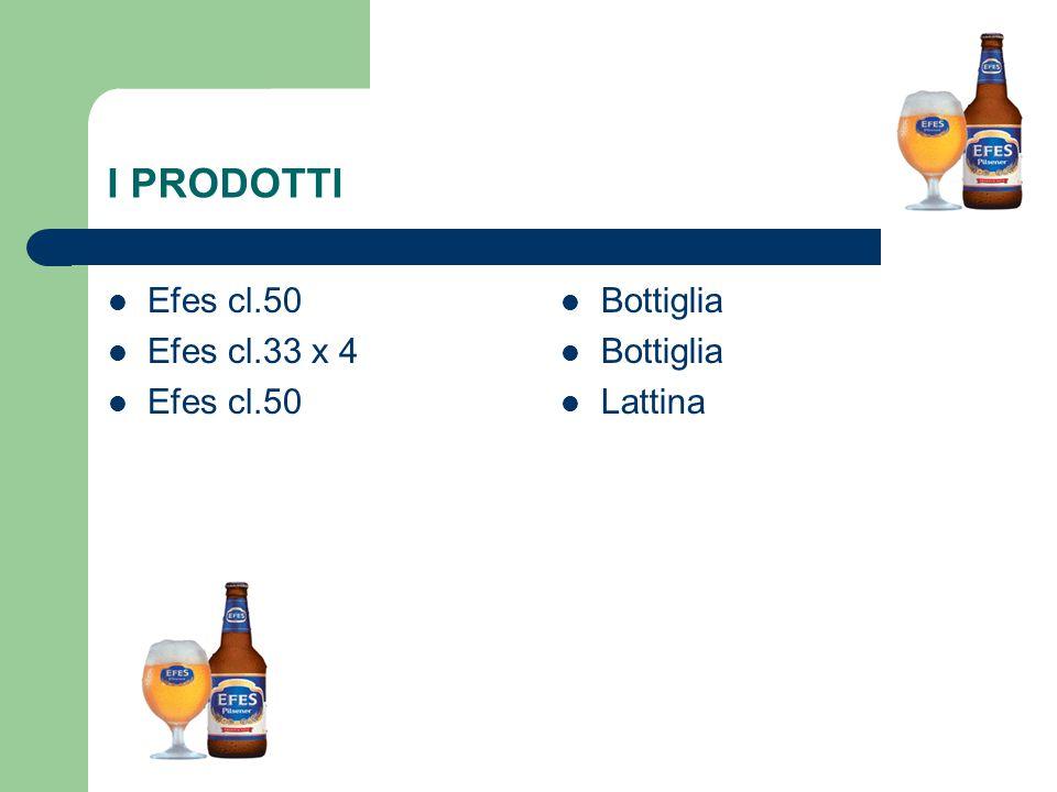 I PRODOTTI Efes cl.50 Efes cl.33 x 4 Efes cl.50 Bottiglia Lattina