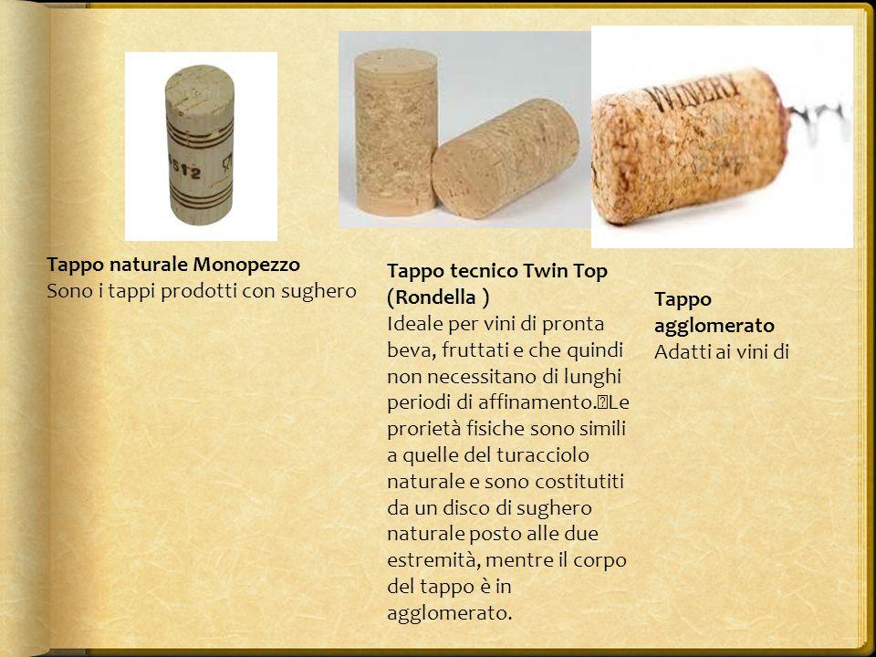 Tappo naturale Monopezzo Tappo tecnico Twin Top (Rondella ) Ideale per vini di pronta beva, fruttati e che quindi non necessitano di lunghi periodi di