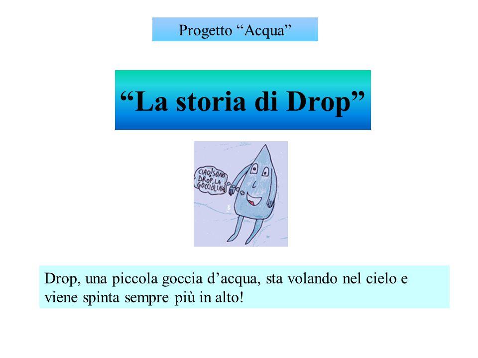 """""""La storia di Drop"""" Drop, una piccola goccia d'acqua, sta volando nel cielo e viene spinta sempre più in alto! Progetto """"Acqua"""""""
