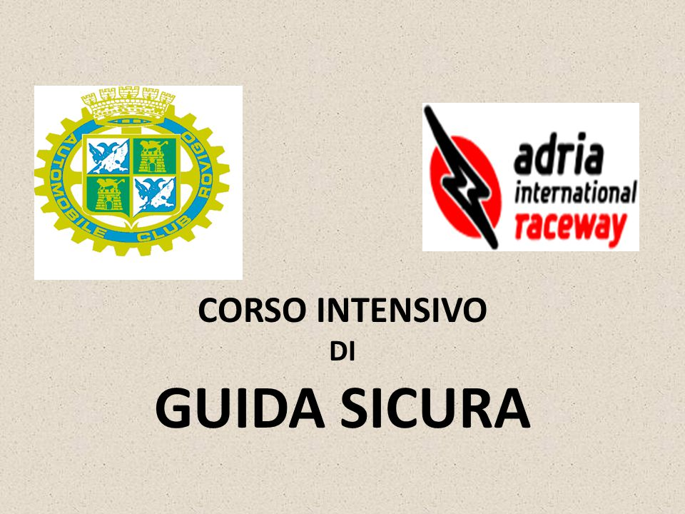 CORSO INTENSIVO DI GUIDA SICURA