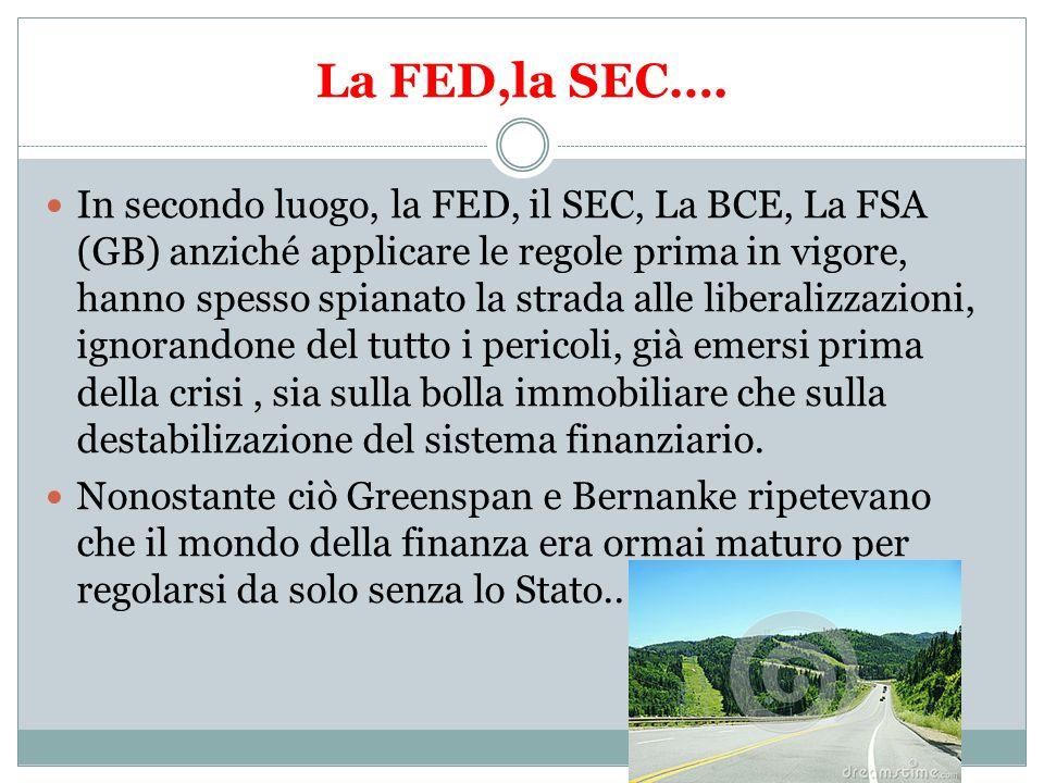 La FED,la SEC….