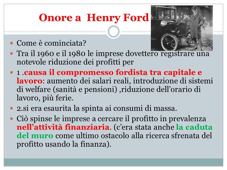 Onore a Henry Ford Come è cominciata.