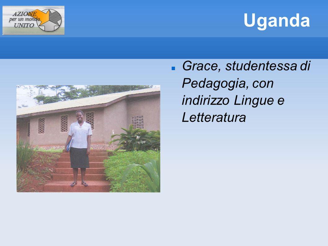Uganda Grace, studentessa di Pedagogia, con indirizzo Lingue e Letteratura