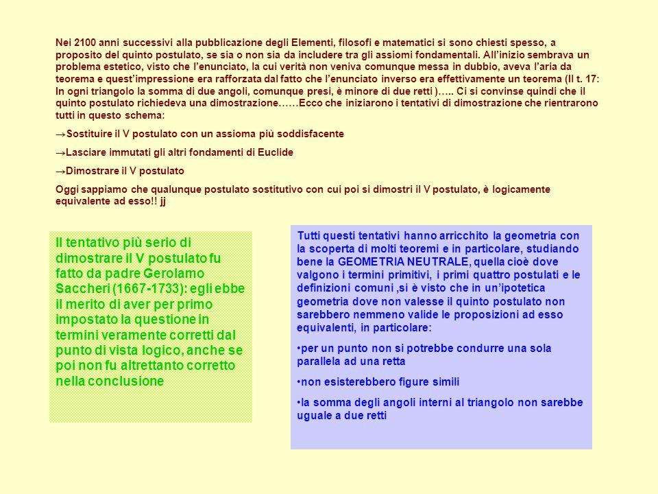 ESEMPIO DI DIMOSTRAZIONE PER STIMOLARE UNA DISCUSSIONE IN CLASSE: T.