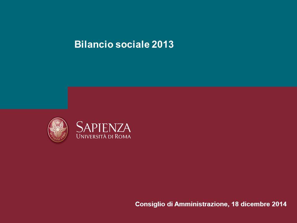 Bilancio sociale 2013 Consiglio di Amministrazione, 18 dicembre 2014