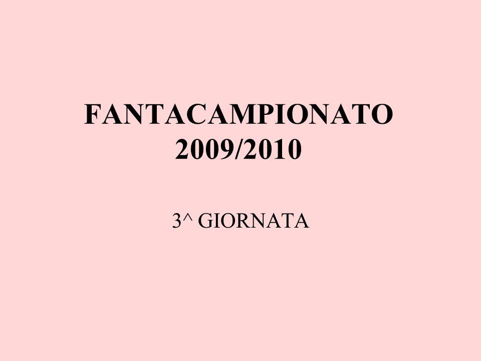 FANTACAMPIONATO 2009/2010 3^ GIORNATA