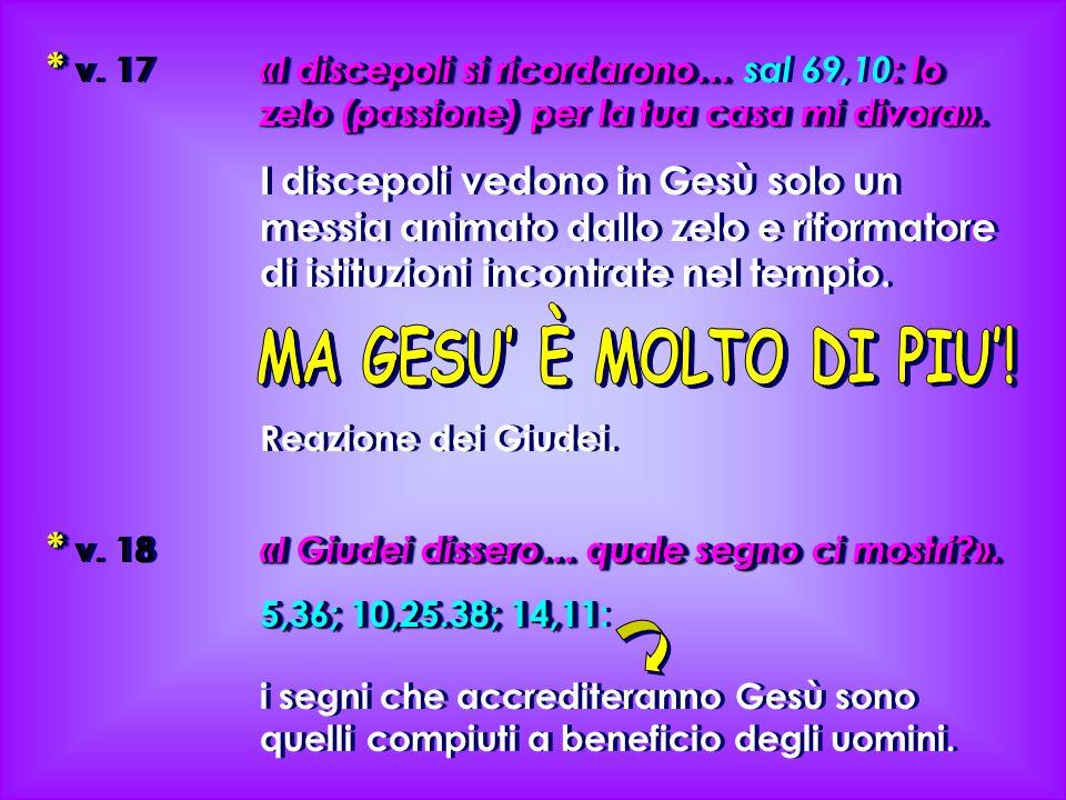 * «I discepoli si ricordarono…: lo zelo (passione) per la tua casa mi divora».