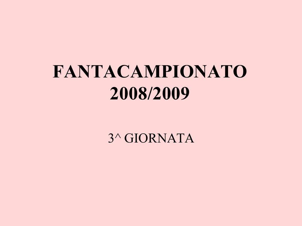 FANTACAMPIONATO 2008/2009 3^ GIORNATA