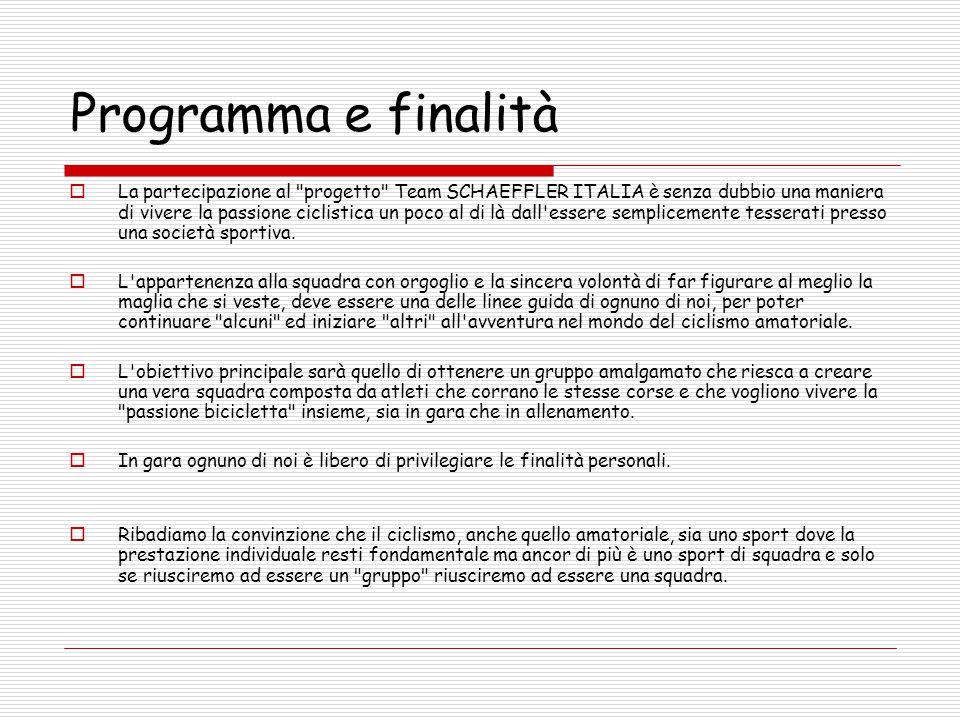 Programma e finalità  La partecipazione al